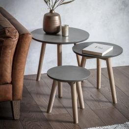 Gal Bergen Tables Grey (Nest of 3)
