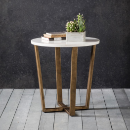 Gal Cleo Round Side Table Marble