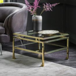 Gal Cosenza Side Table Gold
