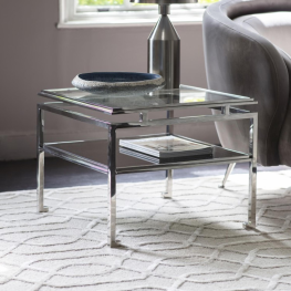 Gal Cosenza Side Table Silver