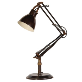 Old Time Dark Brass Angled Lamp KNG075
