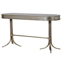 Oval Distressed Hall Table