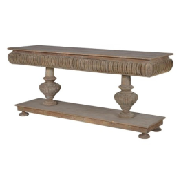 Rectangular Twin Pedestal Console Table