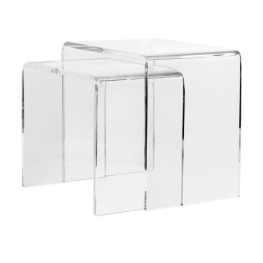 Set of 2 Acrylic Side Table