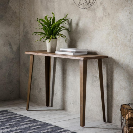 Foundry Console Table Oak