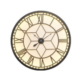 Libra oversized backlit wall clock