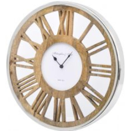 Libra round wooden ghost wall clock