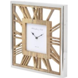 square wooden ghost wall clock